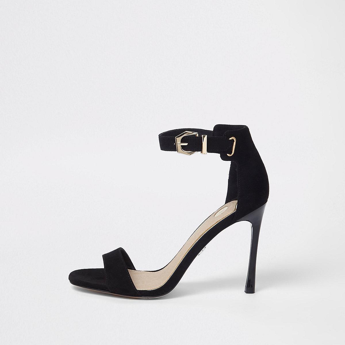 Zwarte minimalistische sandalen