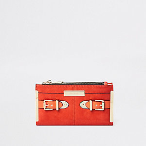 Orange Geldbörse mit Schnalle