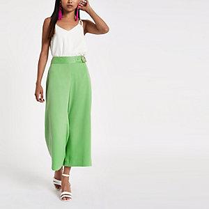Petite – Jupe-culotte large verte