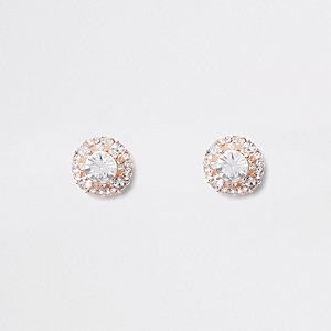 Goudkleurige oorknopjes met diamantjes