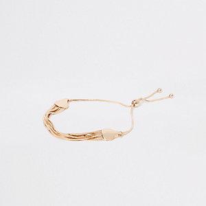 Gold tone snake chain bracelet