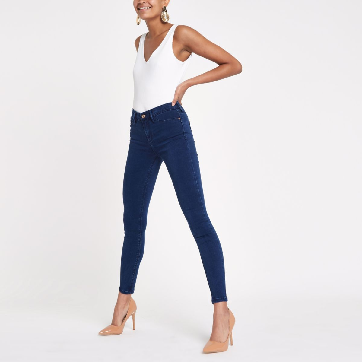 Molly - Donkerblauwe skinny-fit legging