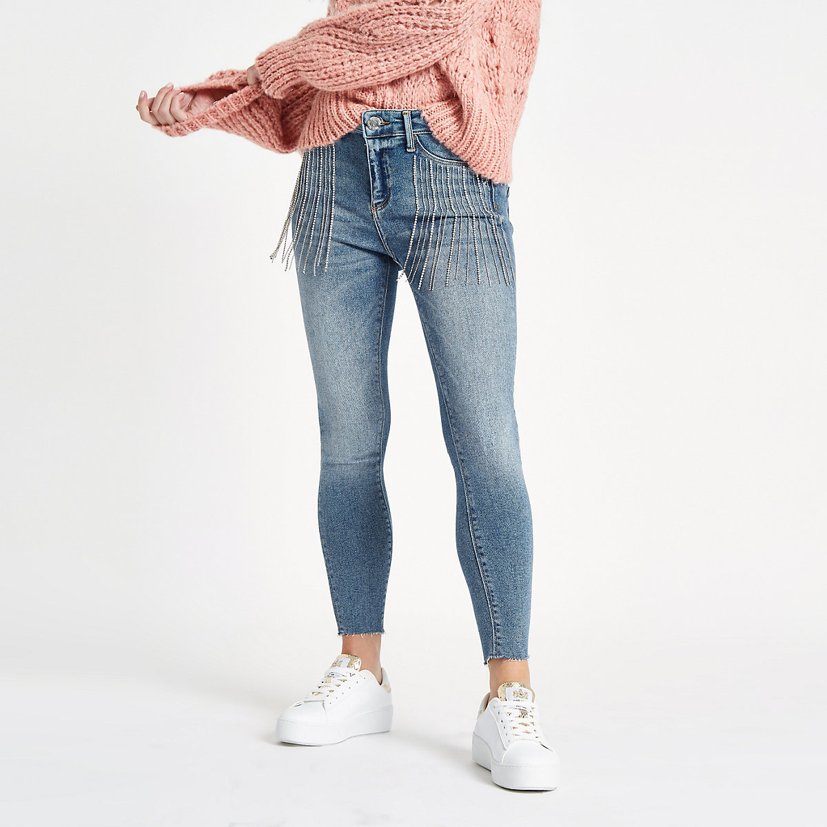 Petite Molly embellished Jeans