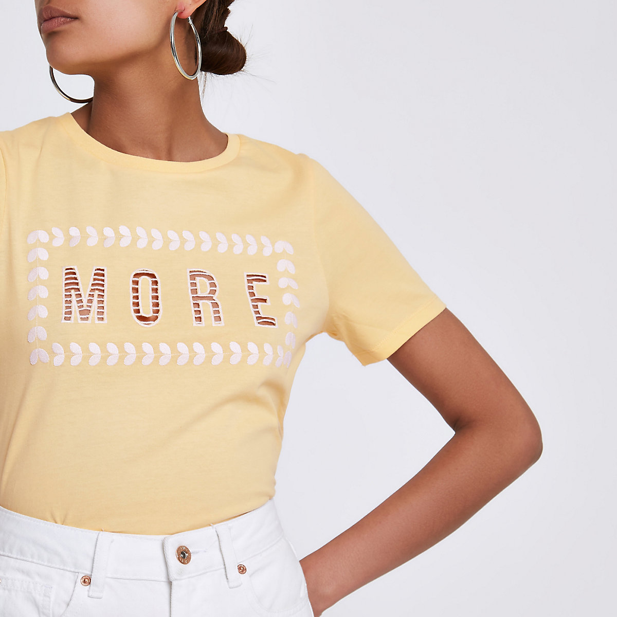 2ef21c06559 Yellow More' cut out T-shirt