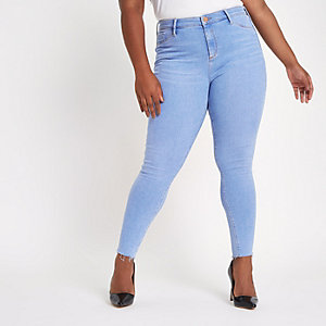 Plus – Molly – Jegging bleu clair taille standard