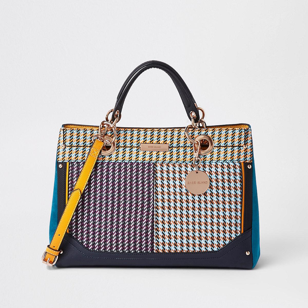 Purple check tote bag - Shopper   Tote Bags - Bags   Purses - women 3b89f1749b783