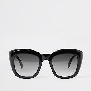 Glamouröse, schwarze Sonnenbrille