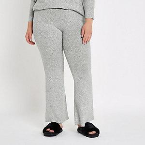 Plus – Pantalon de jogging gris évasé