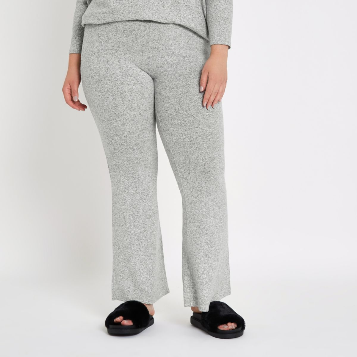 Plus grey flare joggers