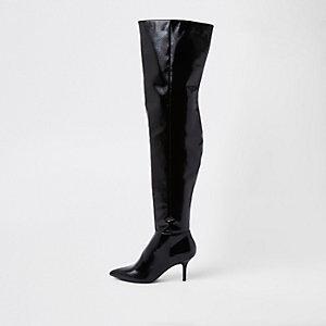 Zwarte laarzen tot over de knie