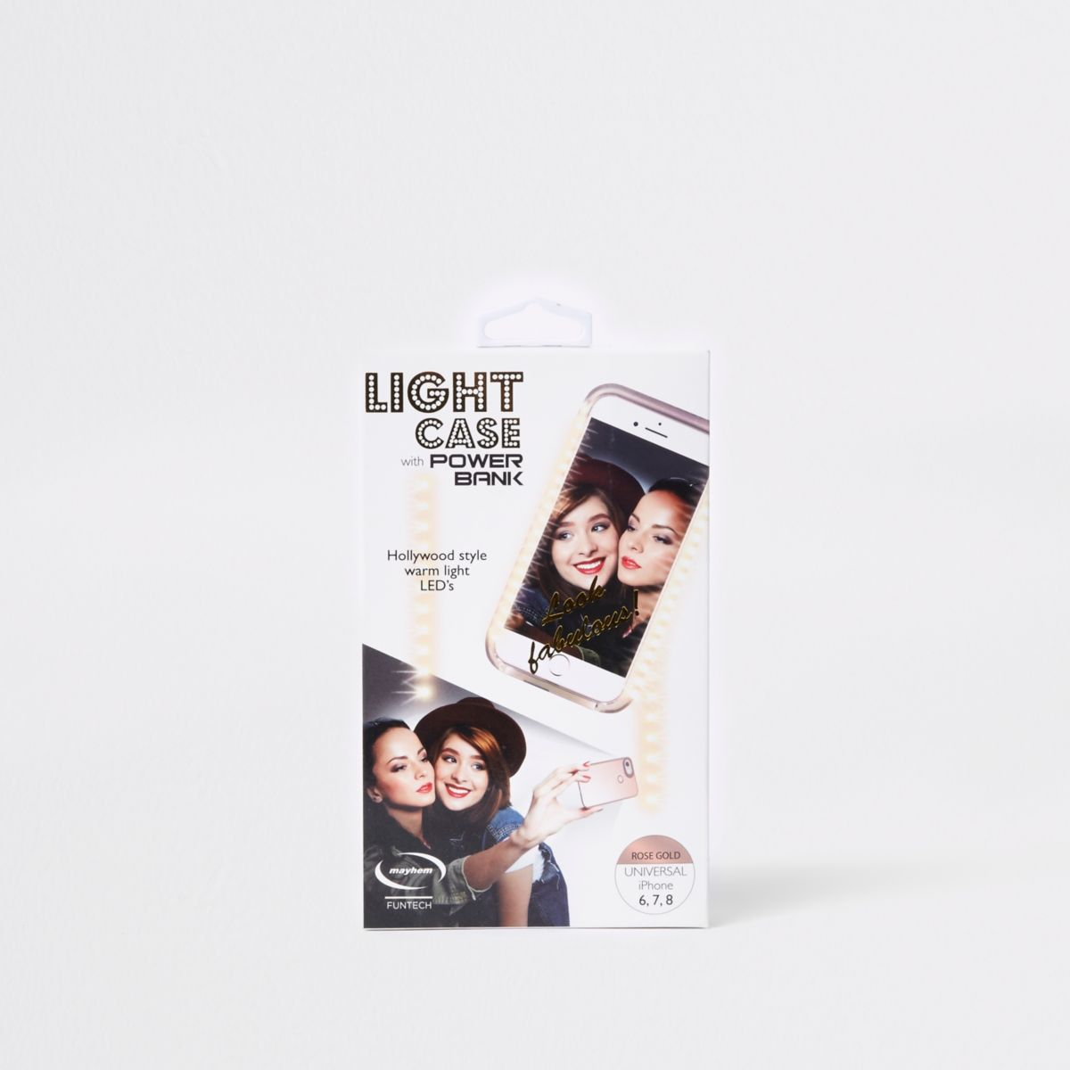 Rose gold light up chargeable phone case