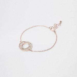 Rose gold tone circle bracelet
