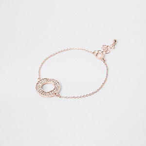 Roségoudkleurige armband met cirkels