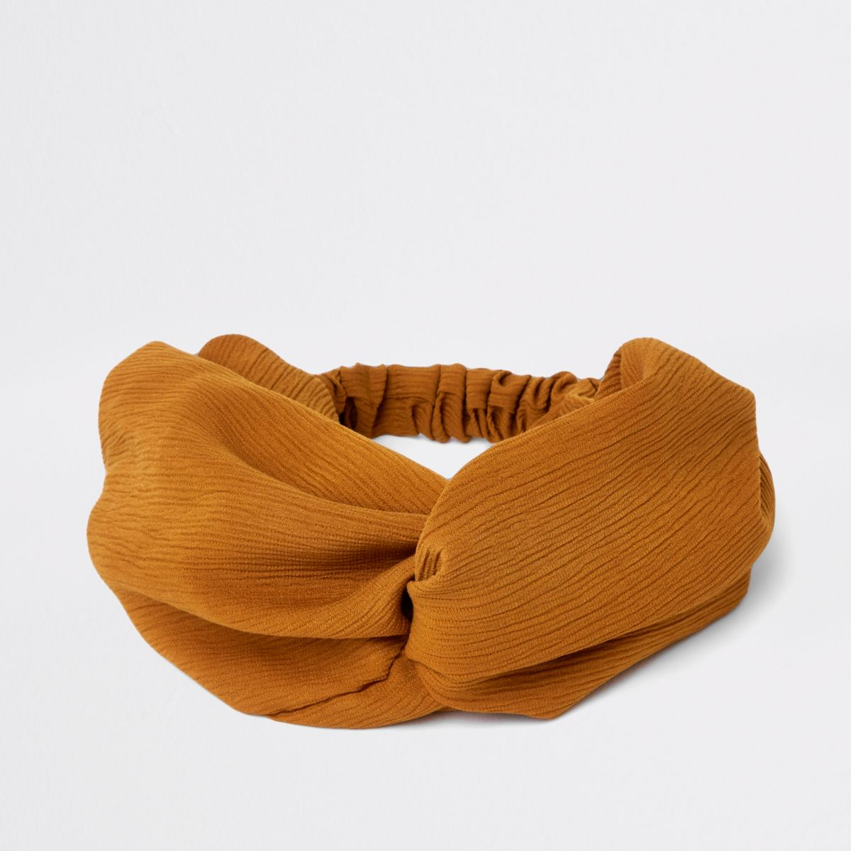Brown wide twist headband