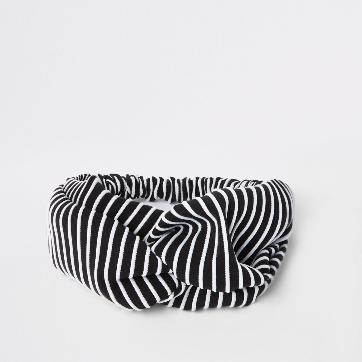 Black stripe print knot head band
