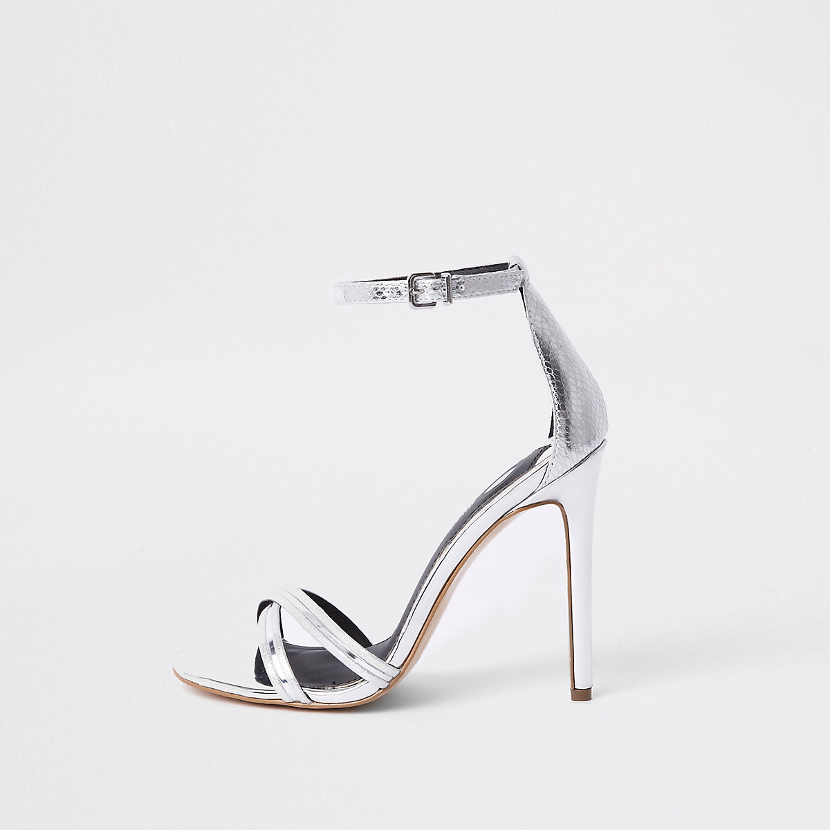 Barely There – Sandalen in Silber-Metallic