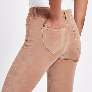 RI – Molly – Jegging en velours rose