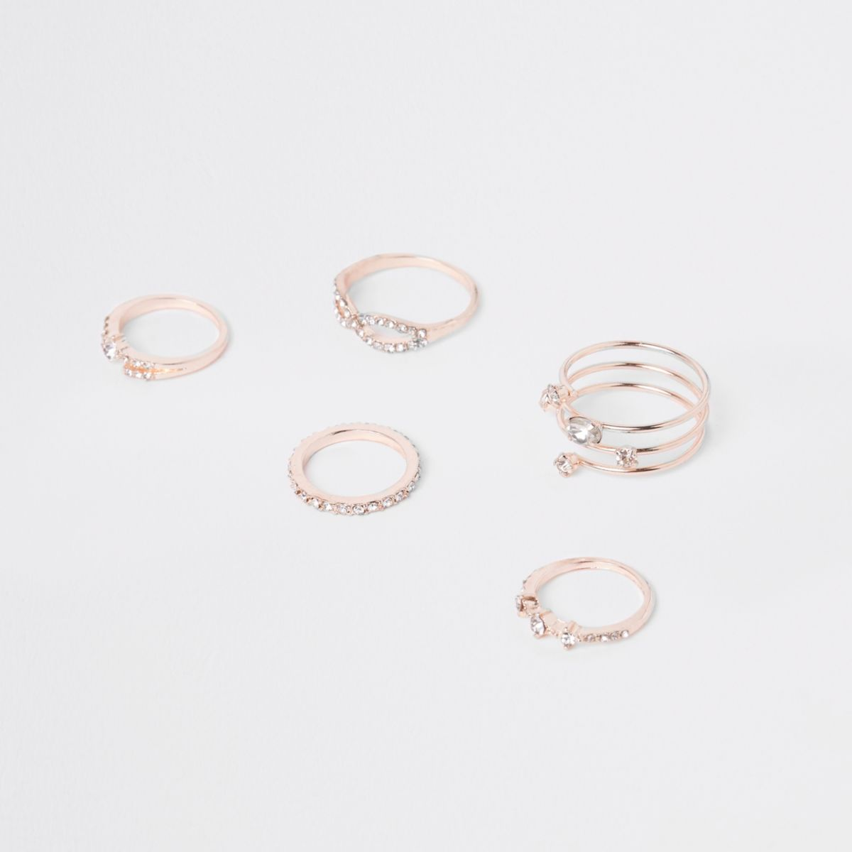 Rose gold tone finger top multipack