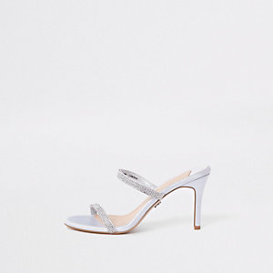 Barely There – Hellgraue Stiletto-Mules