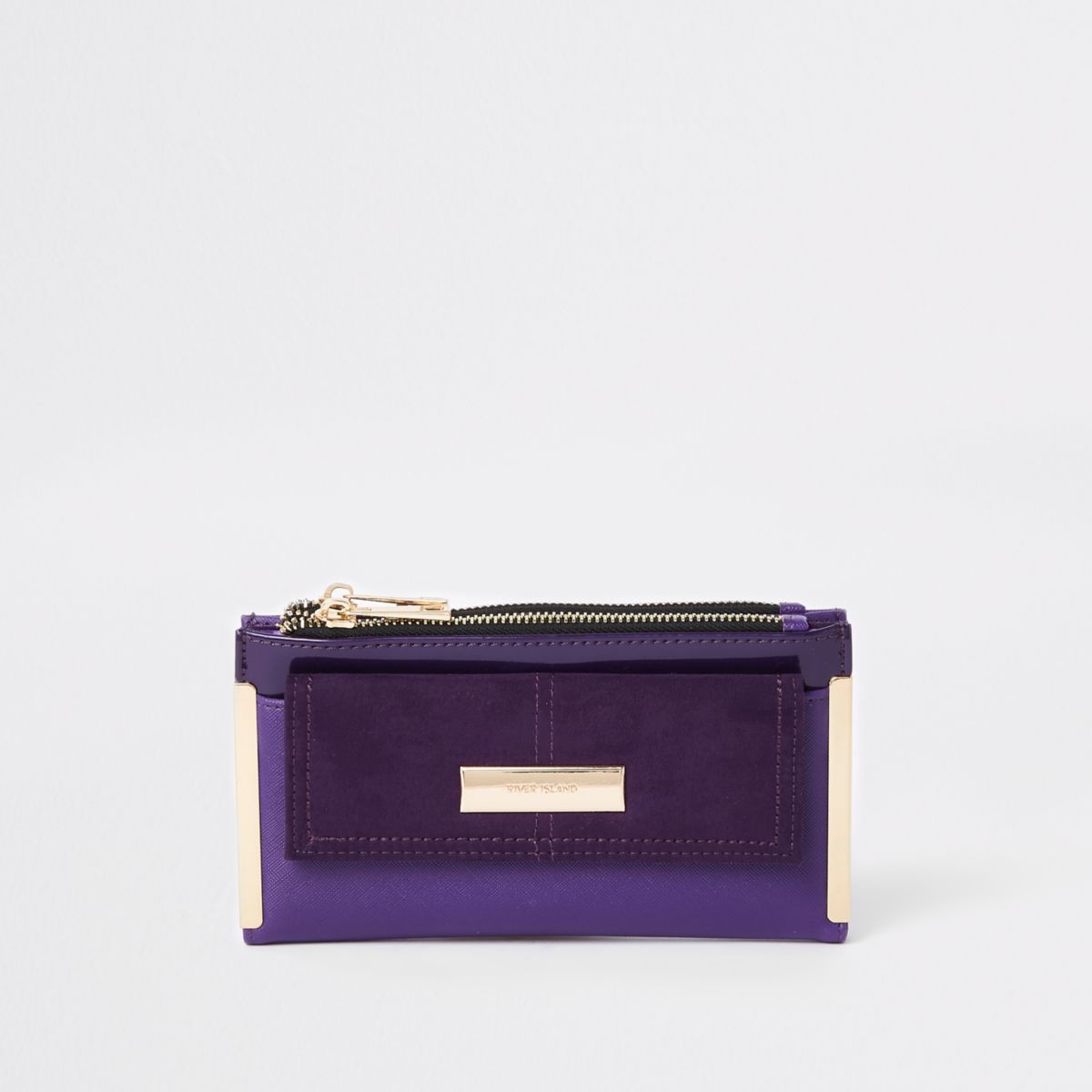 Purple pocket front foldout purse