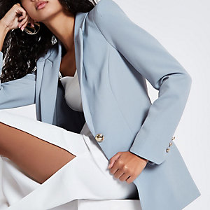 Light blue fitted blazer