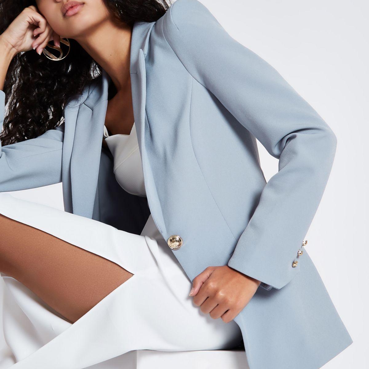 Light blue fitted blazer