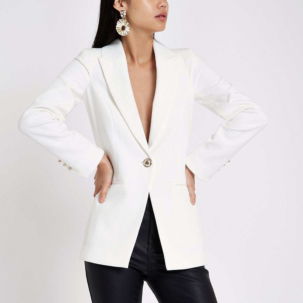 White single breasted blazer