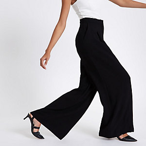 Black high waisted wide leg pants