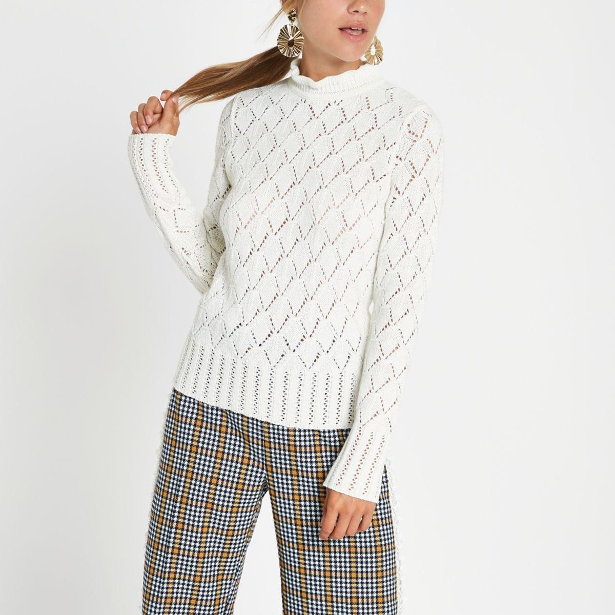Cream knit turtle neck jumper