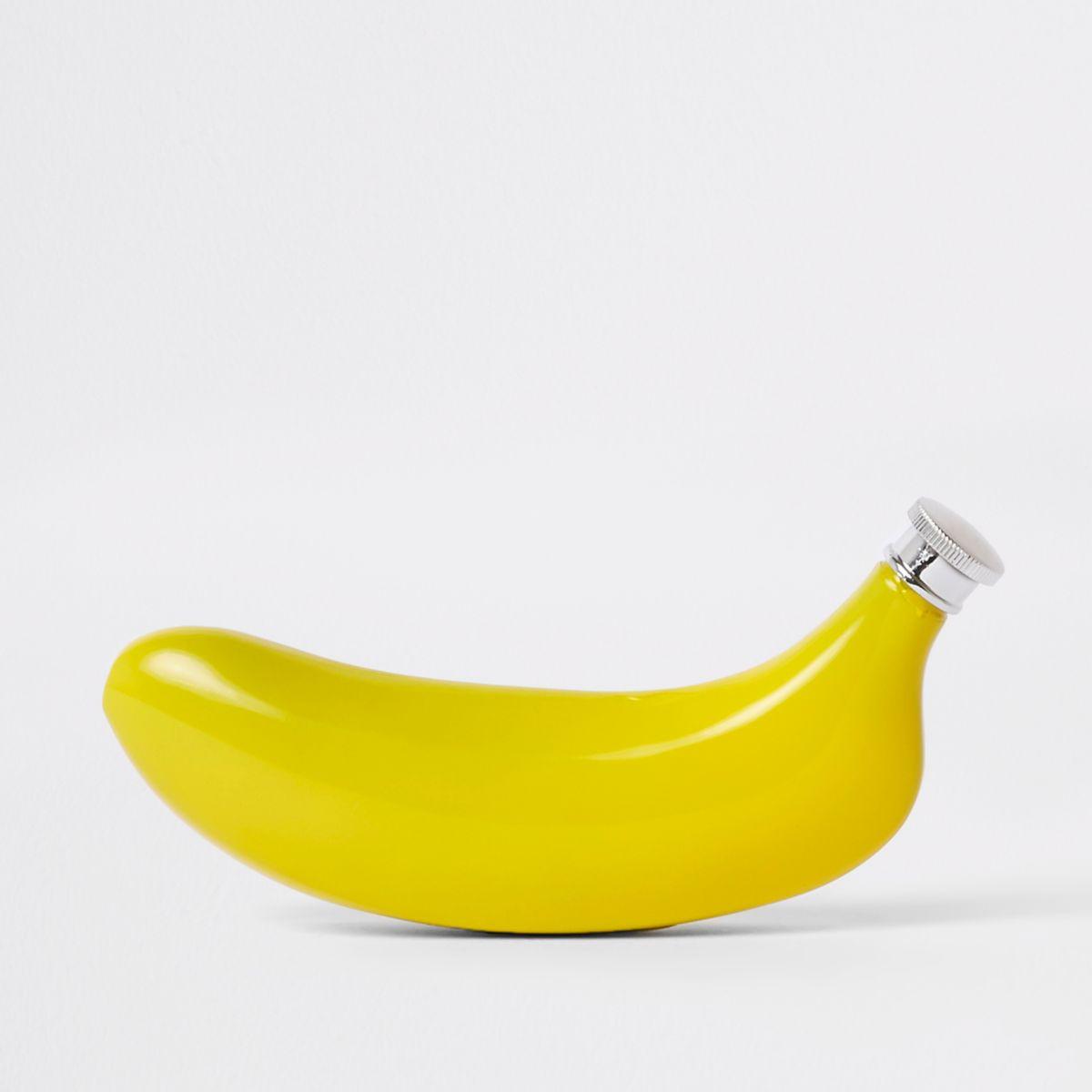 Yellow banana hip flask