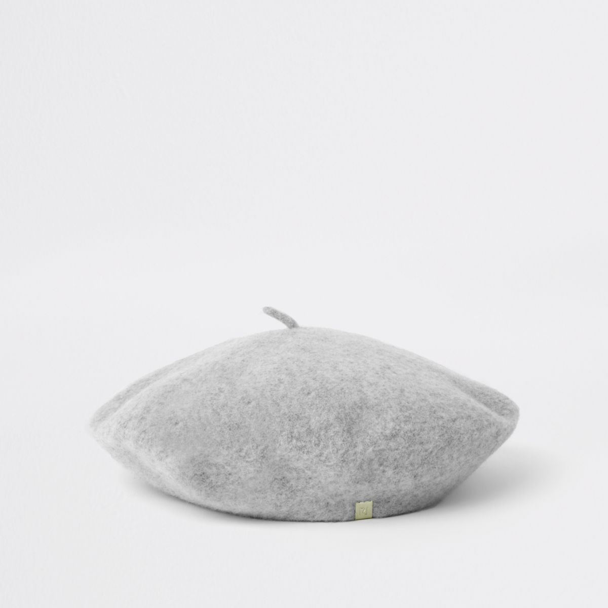 Grey felt beret