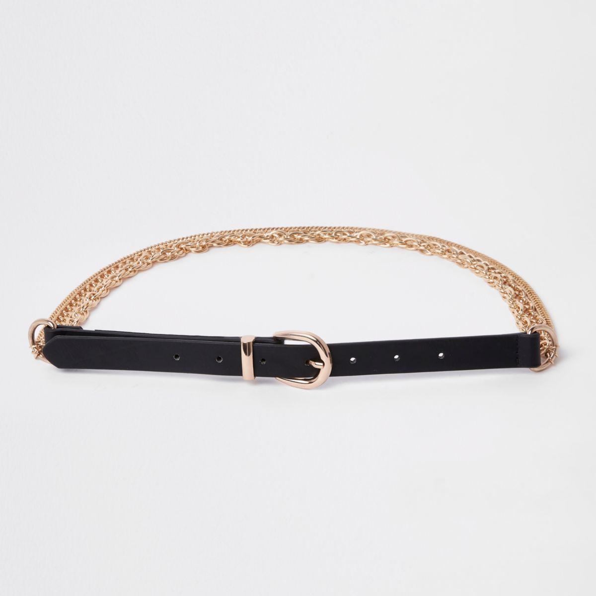 Black chain jeans belt