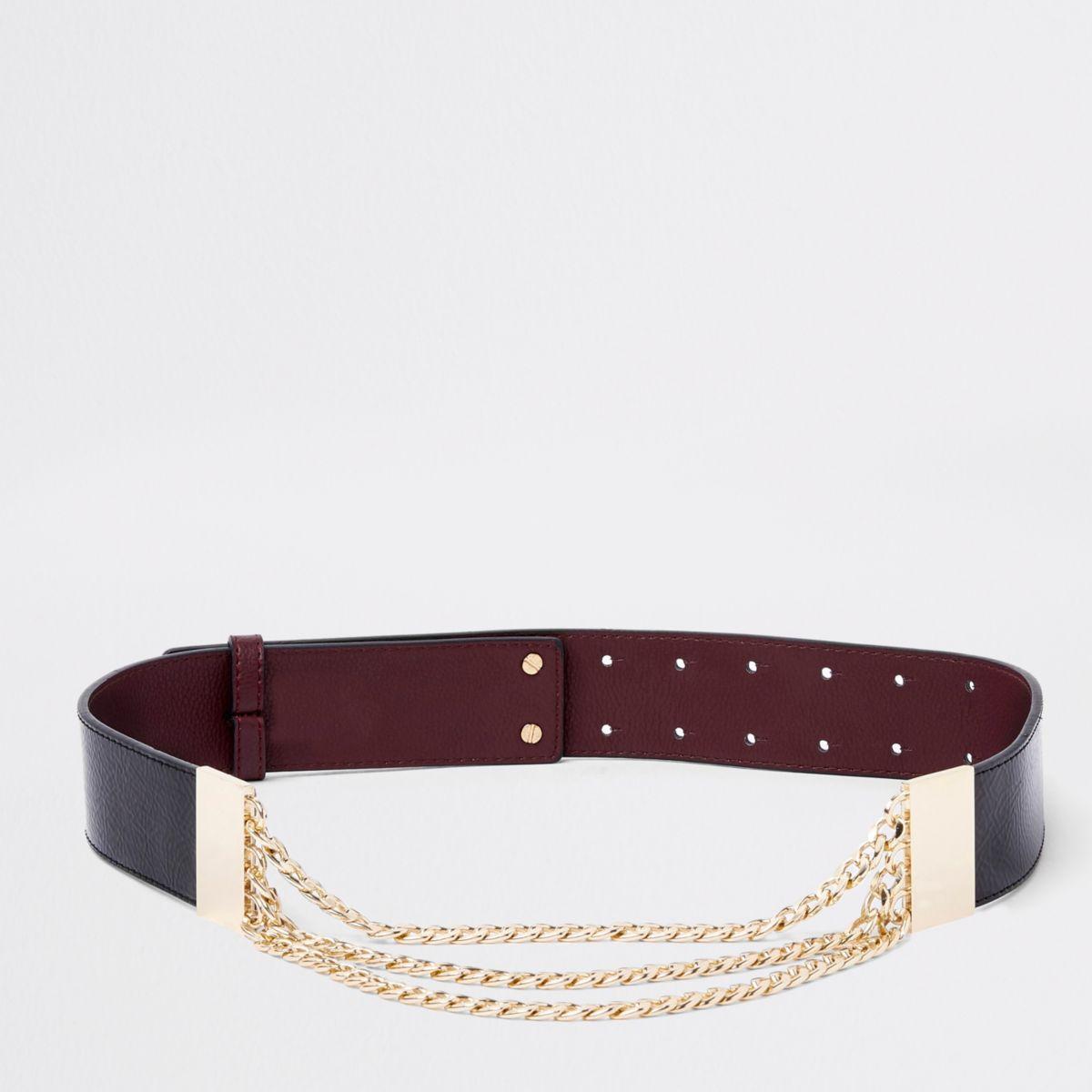 Black snake chain waist belt