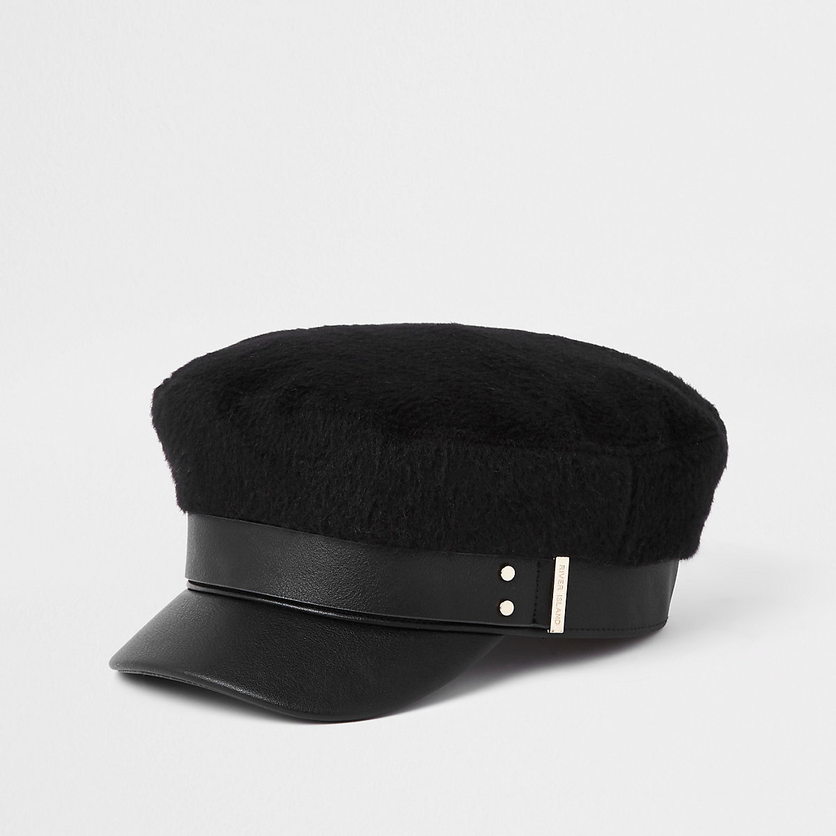 Black brushed baker boy hat - Hats - Accessories - women 464a4111ac5