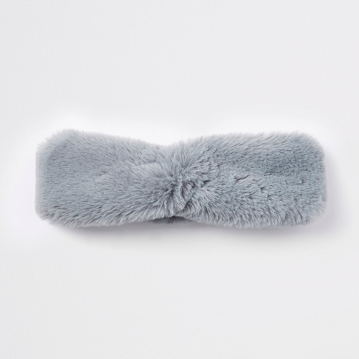 Light blue faux fur headband
