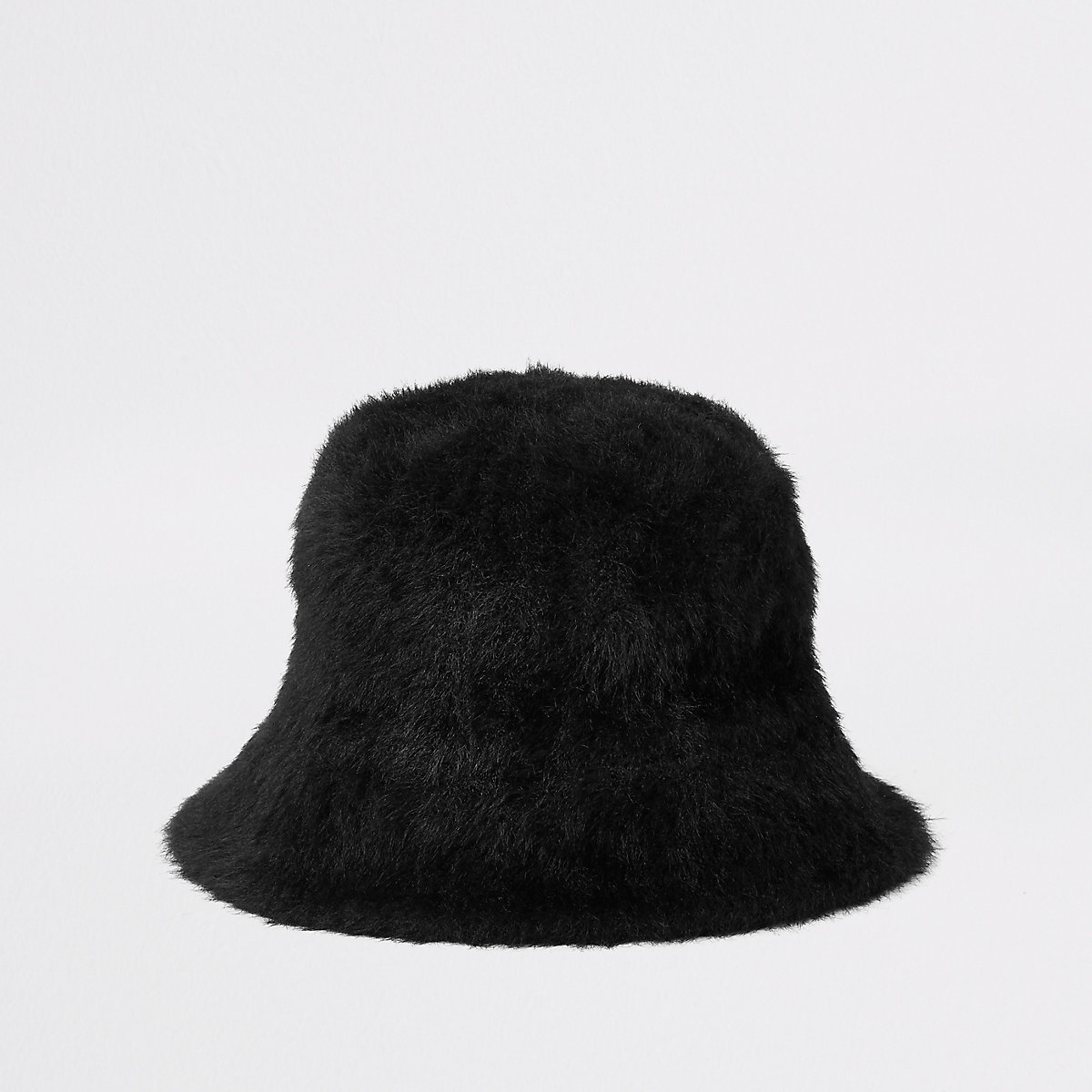 bab64d260a2 Black fluffy bucket hat - Hats - Accessories - women