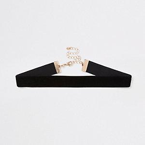 Collier ras-de-cou en velours noir