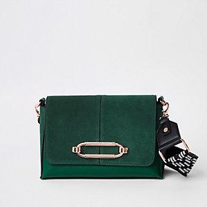 Green thick strap cross body bag