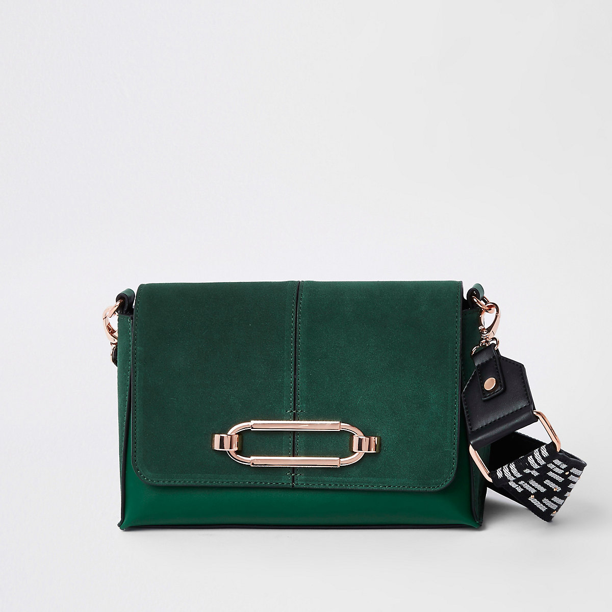Green thick strap cross body bag