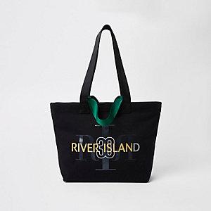 RI 30 black canvas shopper bag