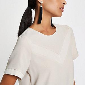 Beige loose fit blouse