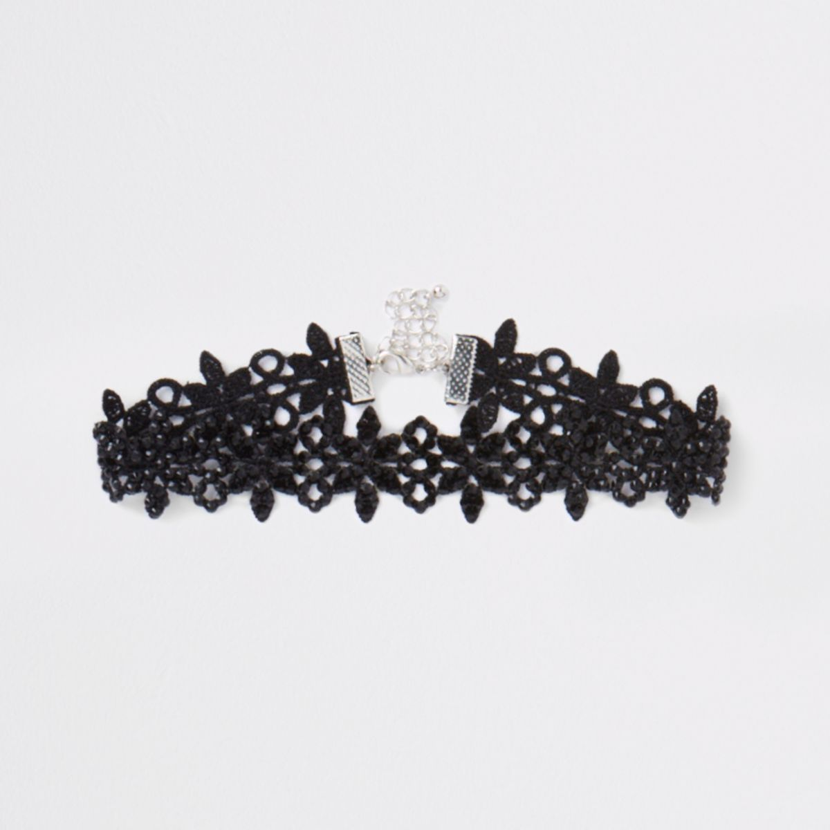Black lace embellished choker