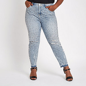 Plus blue Alannah embellished jeans