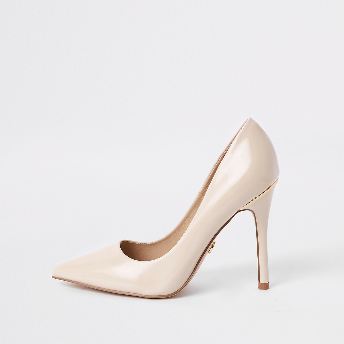 Pink porcelain patent court shoes