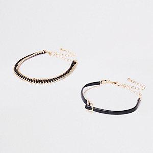 Schwarze Armbänder, Set