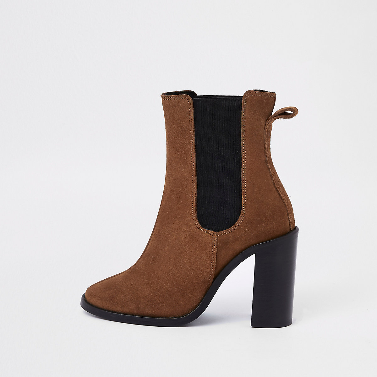 Brown suede ankle boots
