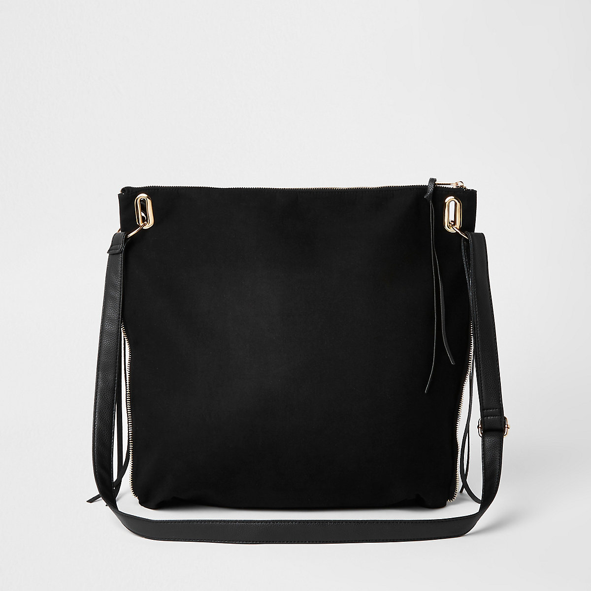 fff6ff93ec Black oversized messenger bag - Shoulder Bags - Bags   Purses - women