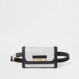 Black buckle belt bum bag