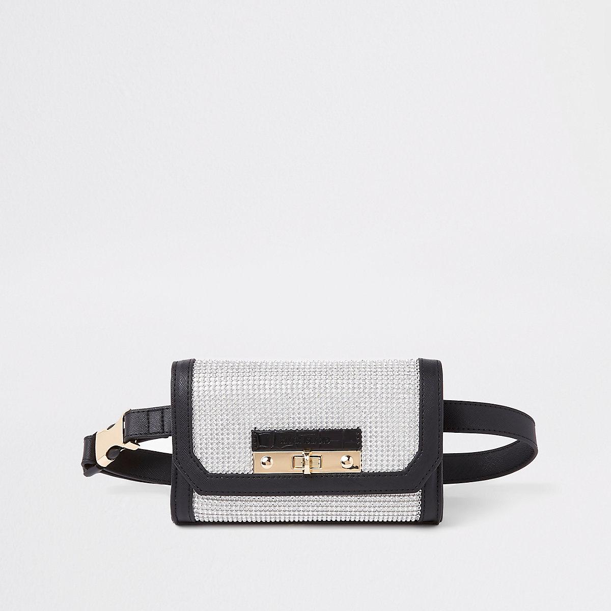 Black buckle belt bum bag