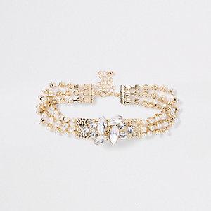Goldener Choker mit Perlen